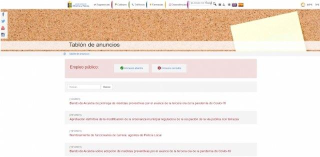 Las ofertas de empleo público, nueva sección en la web municipal, Foto 1