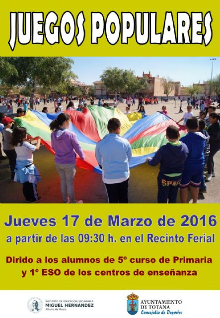 Sports organizes Popular Games Day on Thursday March 17th at the fairgrounds