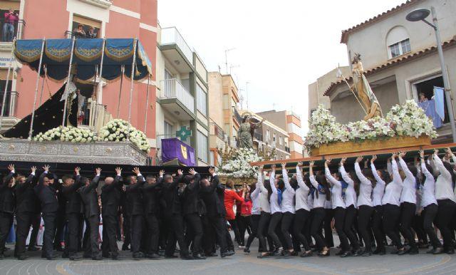 La procesión del Encuentro pone punto y final a la Semana Santa de Puerto Lumbreras - 1, Foto 1