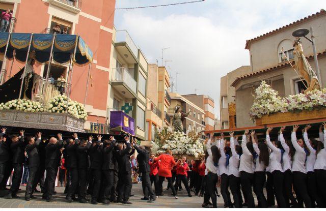 La procesión del Encuentro pone punto y final a la Semana Santa de Puerto Lumbreras - 2, Foto 2