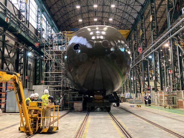 Su Majestad El Rey presidirá la ceremonia de puesta a flote del S-81, el primer submarino de la serie S-80, en Navantia Cartagena - 2, Foto 2