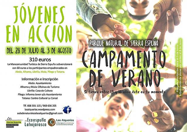 Se abre el plazo para participar en los Campamentos de Verano en Sierra Espuña 2017, Foto 2