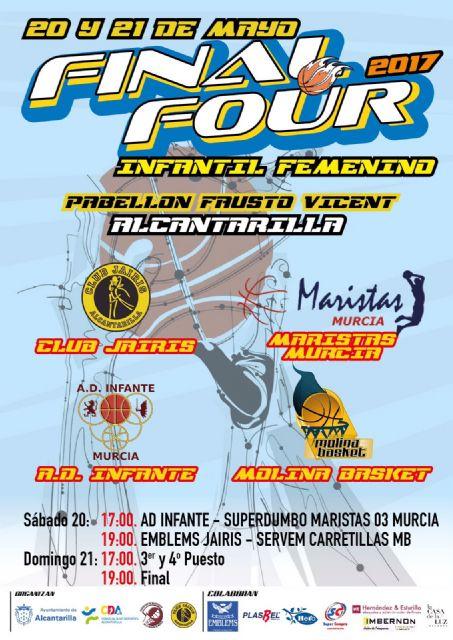 Presentada la Final Four de baloncesto Infantil Femenino, que se disputará este próximo fin de semana en Alcantarilla - 1, Foto 1