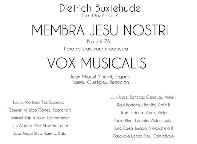 """The Vox Musicalis Choir will offer the """"Membra Jesu nostri"""" concert next Saturday, May 19th - 2"""