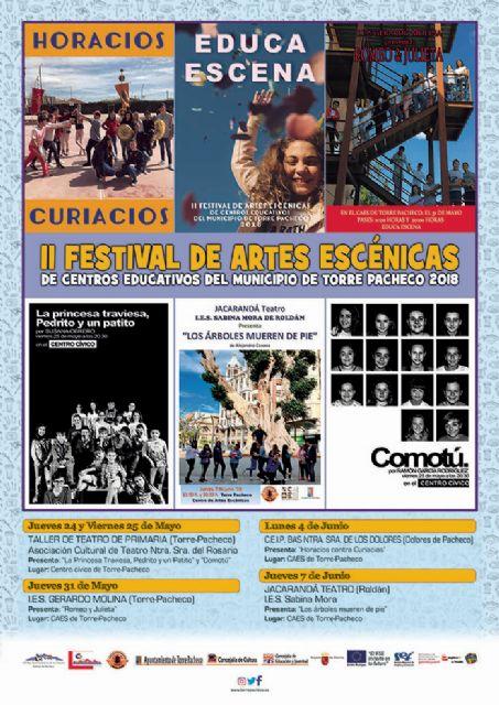 El II Festival de Artes Escénicas de Centros Educativos del Municipio de Torre Pacheco EducaEscena se celebra del 24 de mayo al 7 de junio - 3, Foto 3