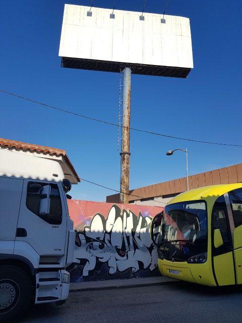 Ahora Murcia pide que se cierren los accesos al solar de las antiguas cocheras de San Pío - 1, Foto 1
