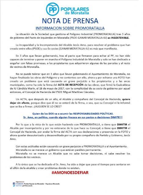 Informacion sobre PROMORATALLA - 1, Foto 1