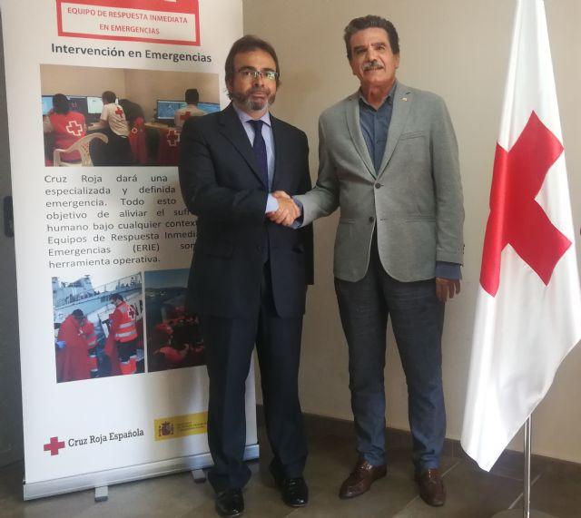 La Comunidad y Cruz Roja renuevan la colaboración para potenciar la capacidad de respuesta de Protección Civil ante las emergencias - 1, Foto 1
