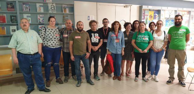 CCOO Enseñanza y STERM Intersindical se encierran en Educación para exigir el calendario de recuperación de derechos - 2, Foto 2
