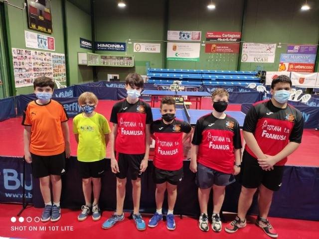 [Resultados del Framusa Totana en el II Open Regional de Tenis de Mesa