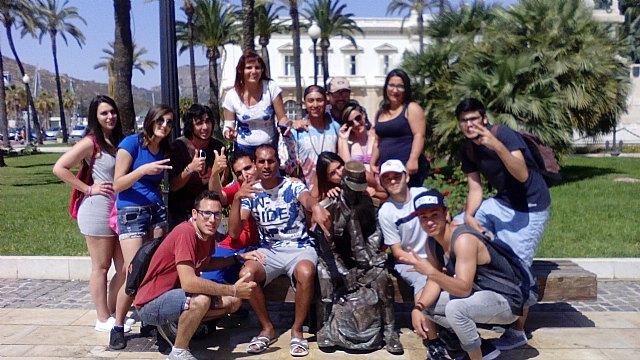 Jóvenes del Proyecto Labor 2.0: Garantía Juvenil visitan Cartagena, Foto 1
