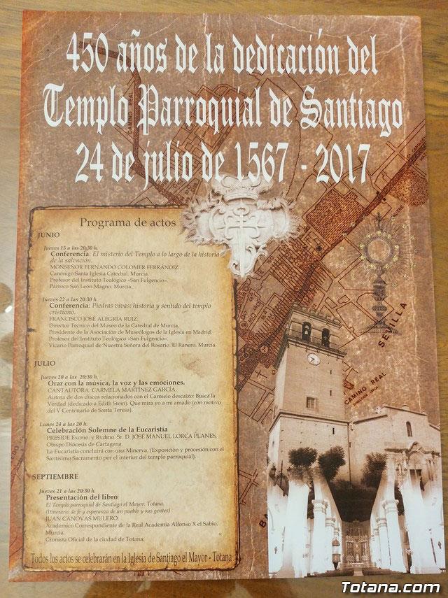 Arrancan las actividades que conforman el 450 aniversario de la dedicación del templo parroquial de Santiago con la Conferencia El misterio del Templo a lo largo de la historia de la salvación, Foto 6