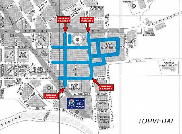 Amplían diversos tramos de las calles del mercado semanal de Cieza - 1, Foto 1