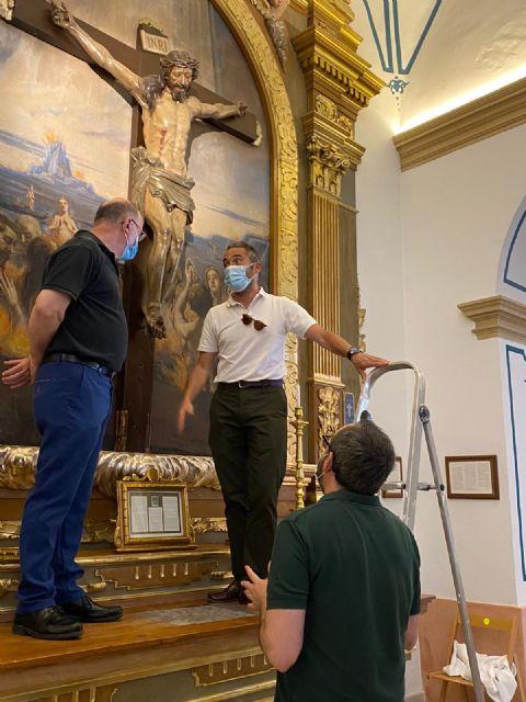 El Centro de Restauración regional evalúa la recuperación de parte del patrimonio artístico del templo de San Francisco Javier - 1, Foto 1