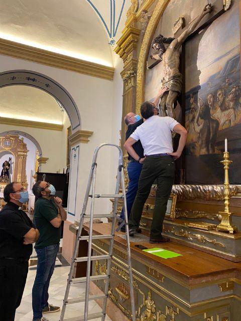 El Centro de Restauración regional evalúa la recuperación de parte del patrimonio artístico del templo de San Francisco Javier - 2, Foto 2