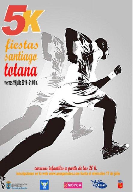 """La prueba """"5K Fiestas de Santiago"""" se celebra este viernes 19 de julio, cuyo plazo de inscripción finaliza mañana miércoles"""