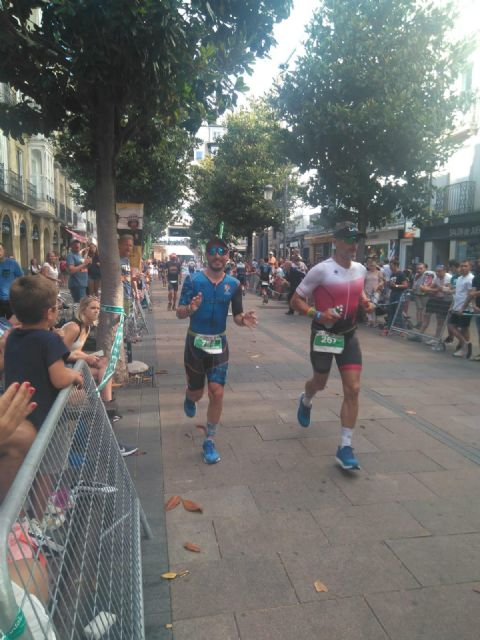 Javi Peñas del Club Triatlon Totana participó en el Ironman de Vitoria
