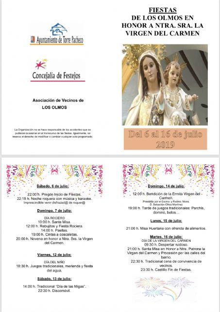 Los Olmos celebran el día de su Patrona, la Virgen del Carmen - 3, Foto 3
