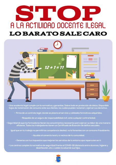 El Ayuntamiento torreño alerta del peligro de la actividad docente ilegal - 1, Foto 1