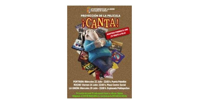 """La Concejalía de Cultura te invita al cine de verano con la película para todos los públicos """"CANTA"""" - 1, Foto 1"""