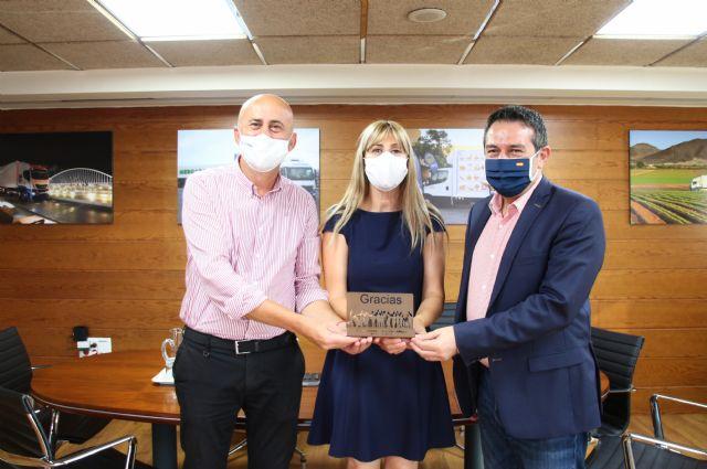 El alcalde de Alcantarilla, Joaquín Buendía, visita la sede central de Disfrimur - 1, Foto 1