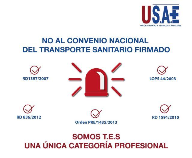 USAE rechaza el convenio nacional firmado para los Técnicos en Emergencias Sanitarias porque no reconoce su categoría profesional - 1, Foto 1