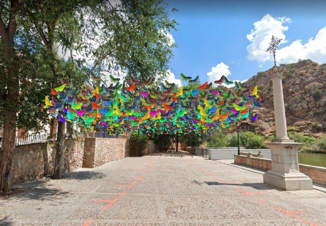 Miles de mariposas de colores sobrevolarán las plazas de Toledo en el Festival Voix Vives de Poesía - 1, Foto 1