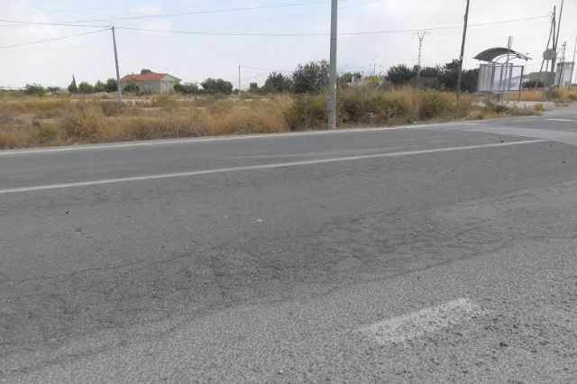 The City seeks compensation for the Prince of Asturias Avenue (RM-E27) passing through the deputation of the Paretón due to its poor condition and hazard to drivers