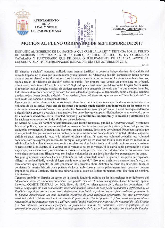 El Concejal Independiente: Que se detenga a los culpables por sedición y se cumpla la ley - 1, Foto 1
