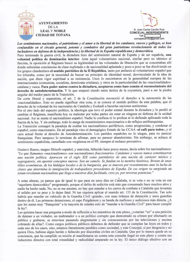 El Concejal Independiente: Que se detenga a los culpables por sedición y se cumpla la ley - 2, Foto 2