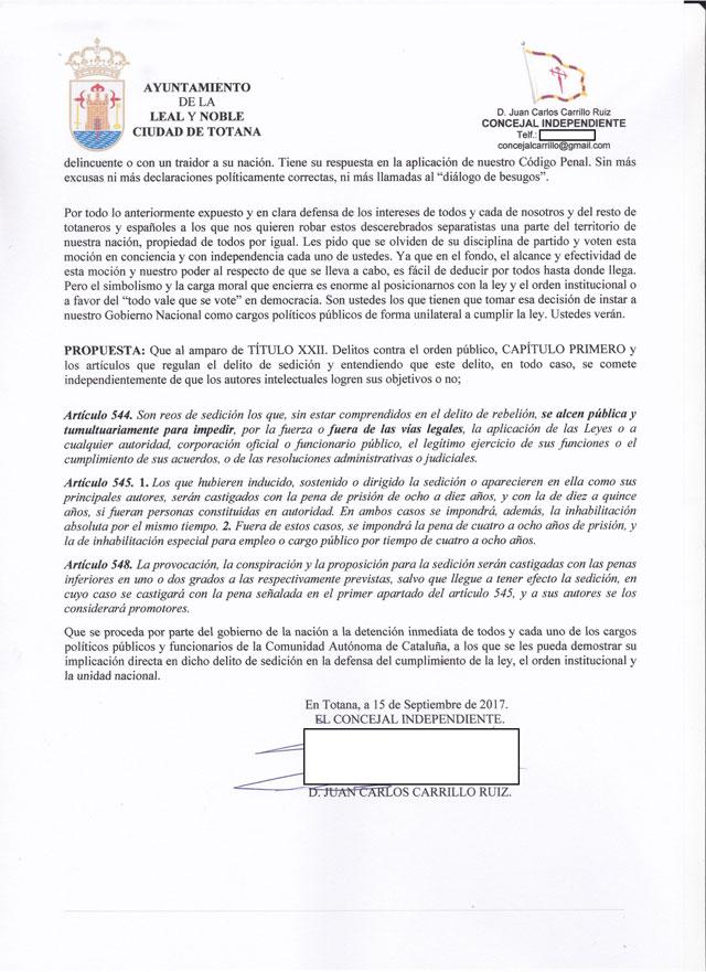 El Concejal Independiente: Que se detenga a los culpables por sedición y se cumpla la ley - 3, Foto 3