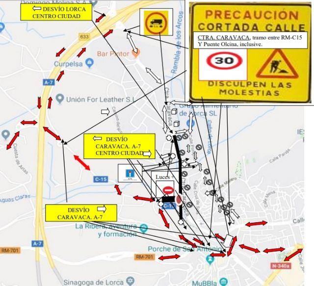 La Policía Local de Lorca establece medidas especiales de circulación en la intersección entre la carretera  Vieja del Pantano y la de Caravaca - 1, Foto 1