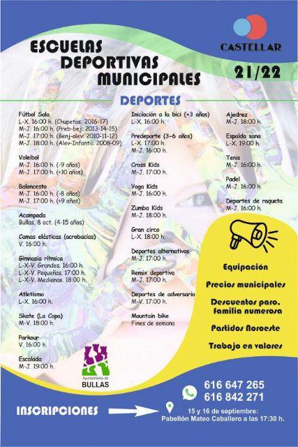 Las Escuelas Deportivas Municipales comienza el lunes 20 de septiembre - 2, Foto 2