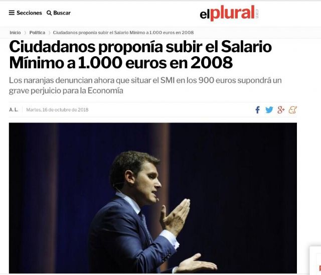 PSOE: El PP y Ciudadanos tienen que explicar por qué no quieren subir el salario mínimo a 900€ - 1, Foto 1