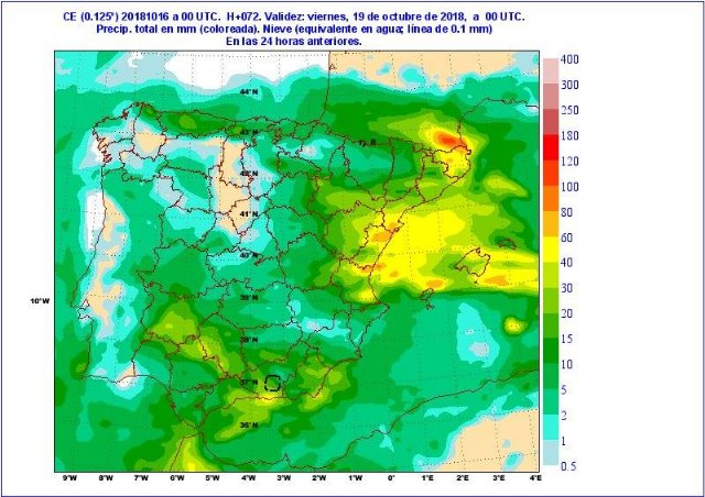 Situación de lluvias intensas en el Mediterráneo a partir del jueves - 1, Foto 1