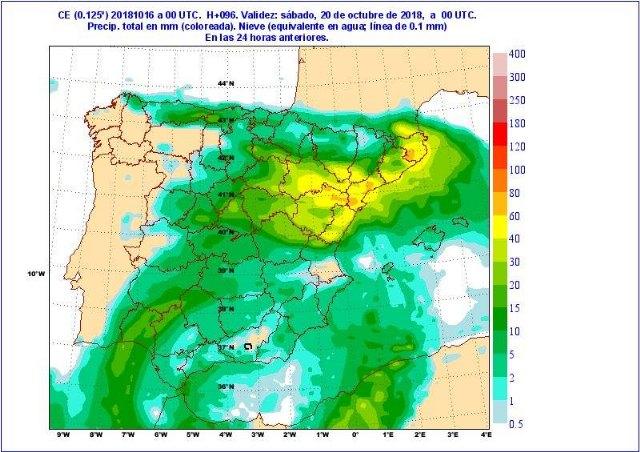 Situación de lluvias intensas en el Mediterráneo a partir del jueves - 2, Foto 2
