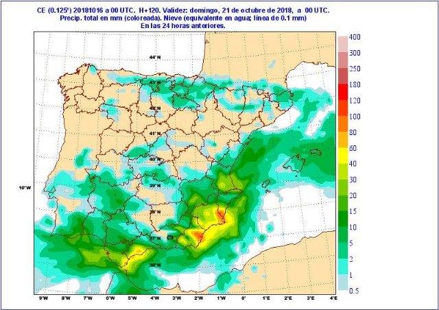 Situación de lluvias intensas en el Mediterráneo a partir del jueves - 3, Foto 3