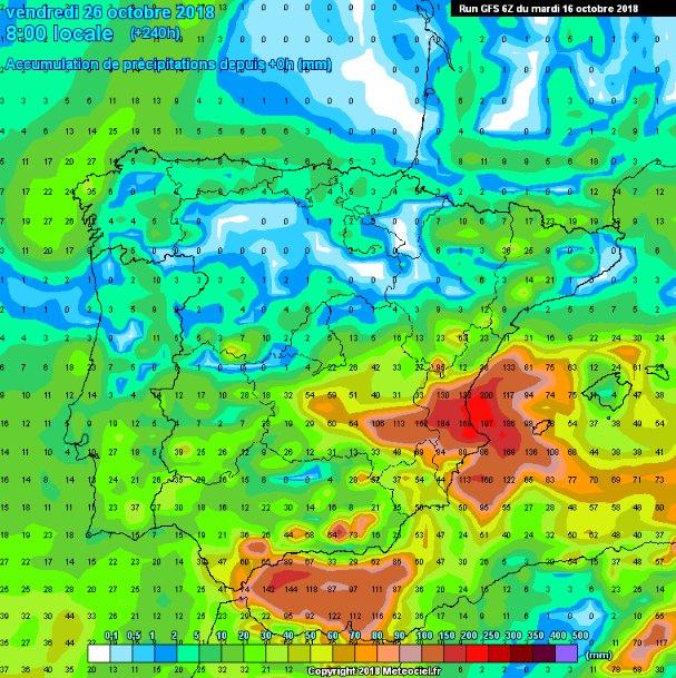 Situación de lluvias intensas en el Mediterráneo a partir del jueves - 4, Foto 4