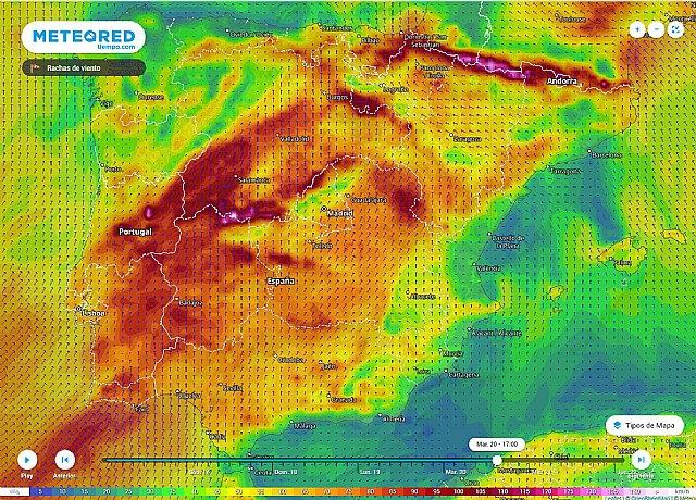 El viento será noticia con rachas moderadas o fuertes en gran parte de la Península., Foto 1