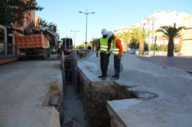 Obras de emergencia de renovación de redes en la avenida Ginés Campos, Foto 1