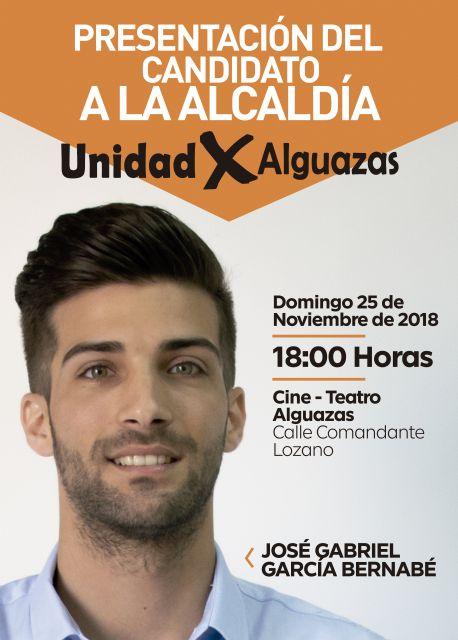 José Gabriel García Bernabé elegido candidato a la alcaldía de Alguazas por UxA - 2, Foto 2