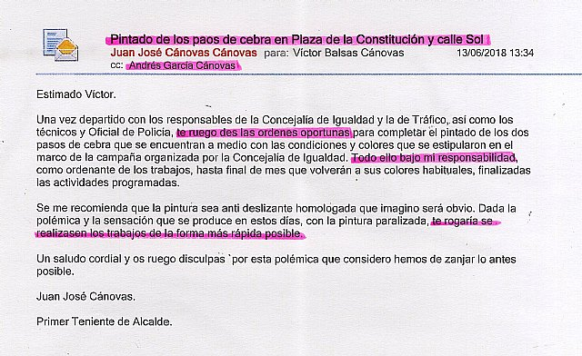 Reflexiones de la semana que termina, por Juan José Cánovas, alcalde de Totana
