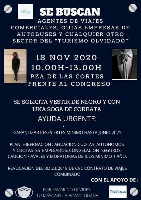 Las agencias de viajes se concentrarán el próximo día 18 de noviembre frente al Congreso de los Diputados - 2, Foto 2