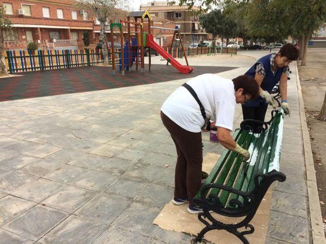 Realizan trabajos de repintado para la revalorización de los espacios públicos, con una inversión de 7.652 euros - 1, Foto 1