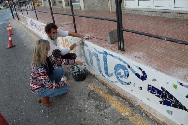 Concluye la tercera fase del proyecto de grafiti sobre mosaico - 1, Foto 1
