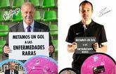 En un mes se han vendido ya más de un millar de balones solidarios de D´Genes y AELIP