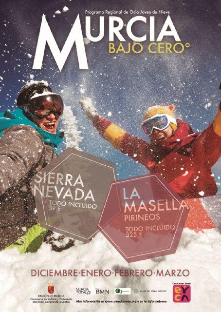 El programa Murcia bajo cero anima a los jóvenes del municipio a practicar deportes de nieve - 1, Foto 1