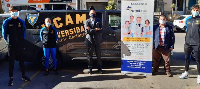 El UCAM Atletismo Cartagena y Practiser asistencia médica renuevan su acuerdo de colaboración - 2, Foto 2