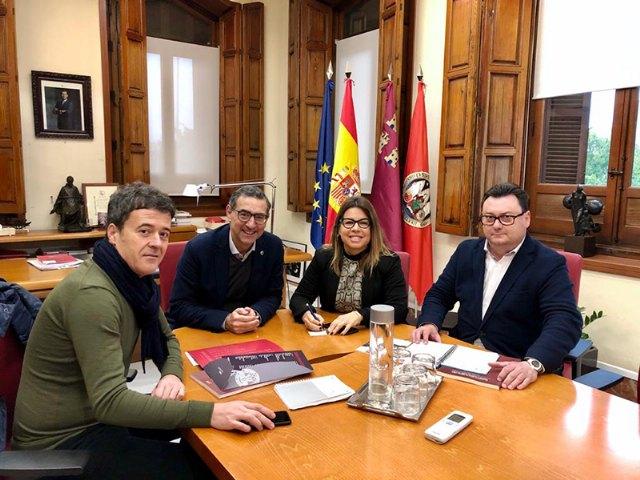 El Alcalde de Blanca se reúne con el Rector de la Universidad de Murcia - 1, Foto 1