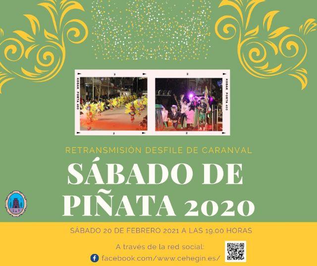 El Ayuntamiento de Cehegín retransmitirá por las Redes Sociales el Desfile de Carnaval de Sábado de Piñata 2020 - 1, Foto 1
